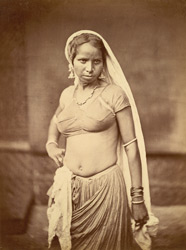Portrait of a young woman, Eastern Bengal.